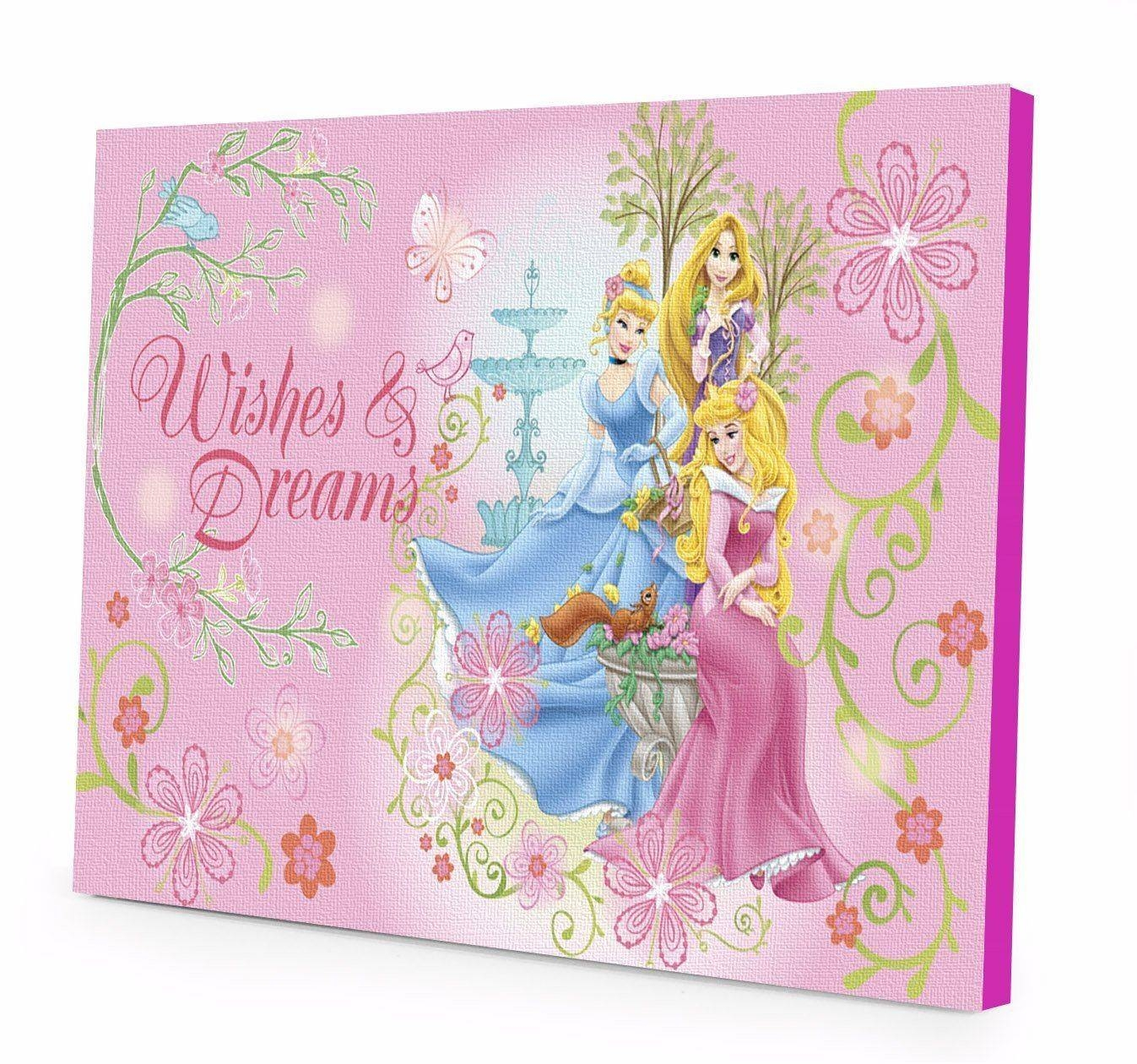 Disney Princess Wishes Dreams Led Light Up Canvas Wall Art Wk In Latest Princess Canvas Wall Art (View 9 of 20)