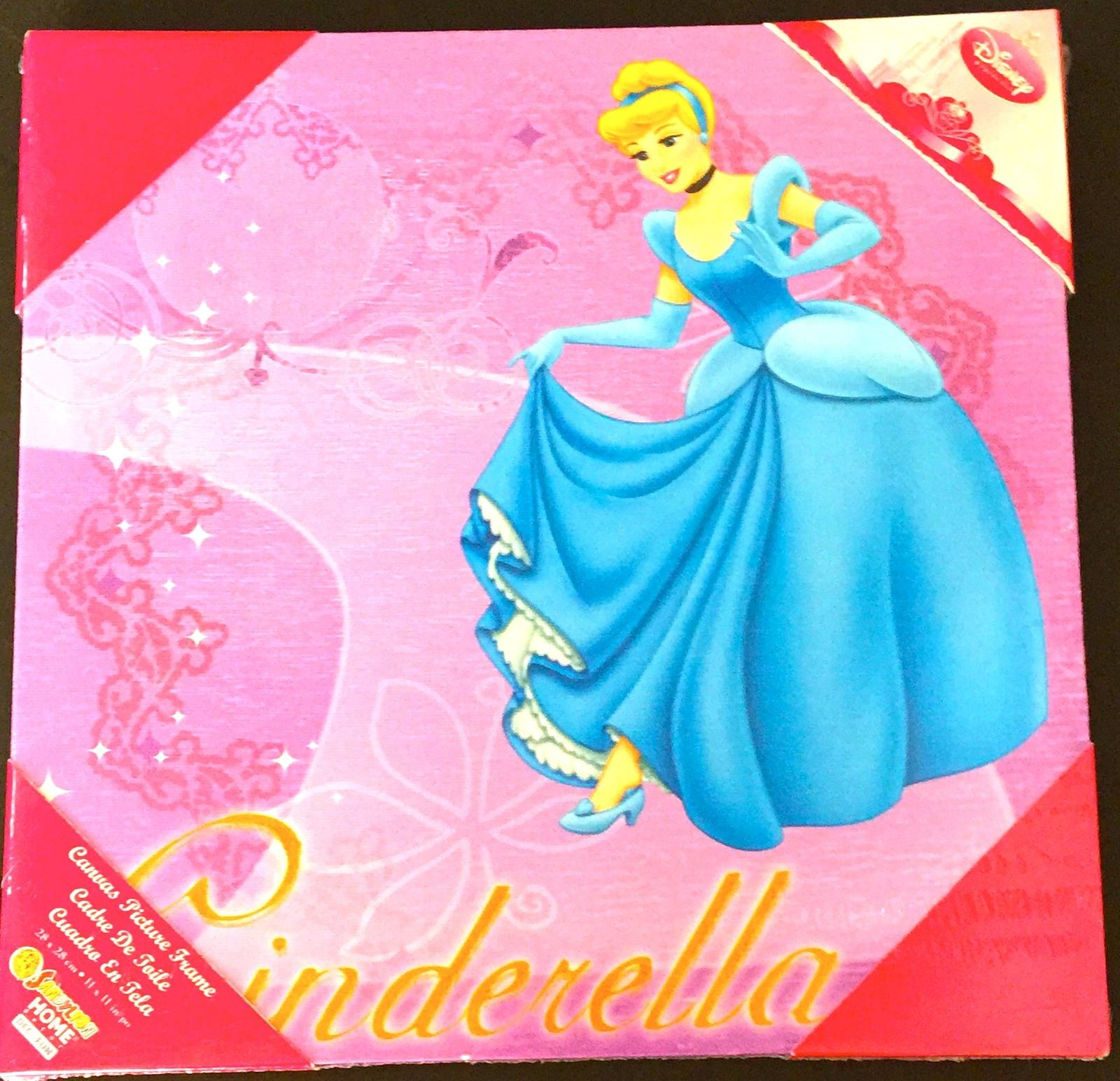 Disney's Princess Cinderella Decorative Wall Art Canvas Inside Best And Newest Princess Canvas Wall Art (View 10 of 20)