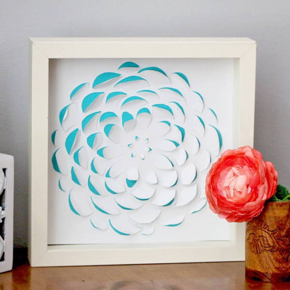 Diy 3D Scrapbook Paper Wall Art | Blitsy Throughout Most Up To Date 3D Paper Wall Art (View 13 of 25)