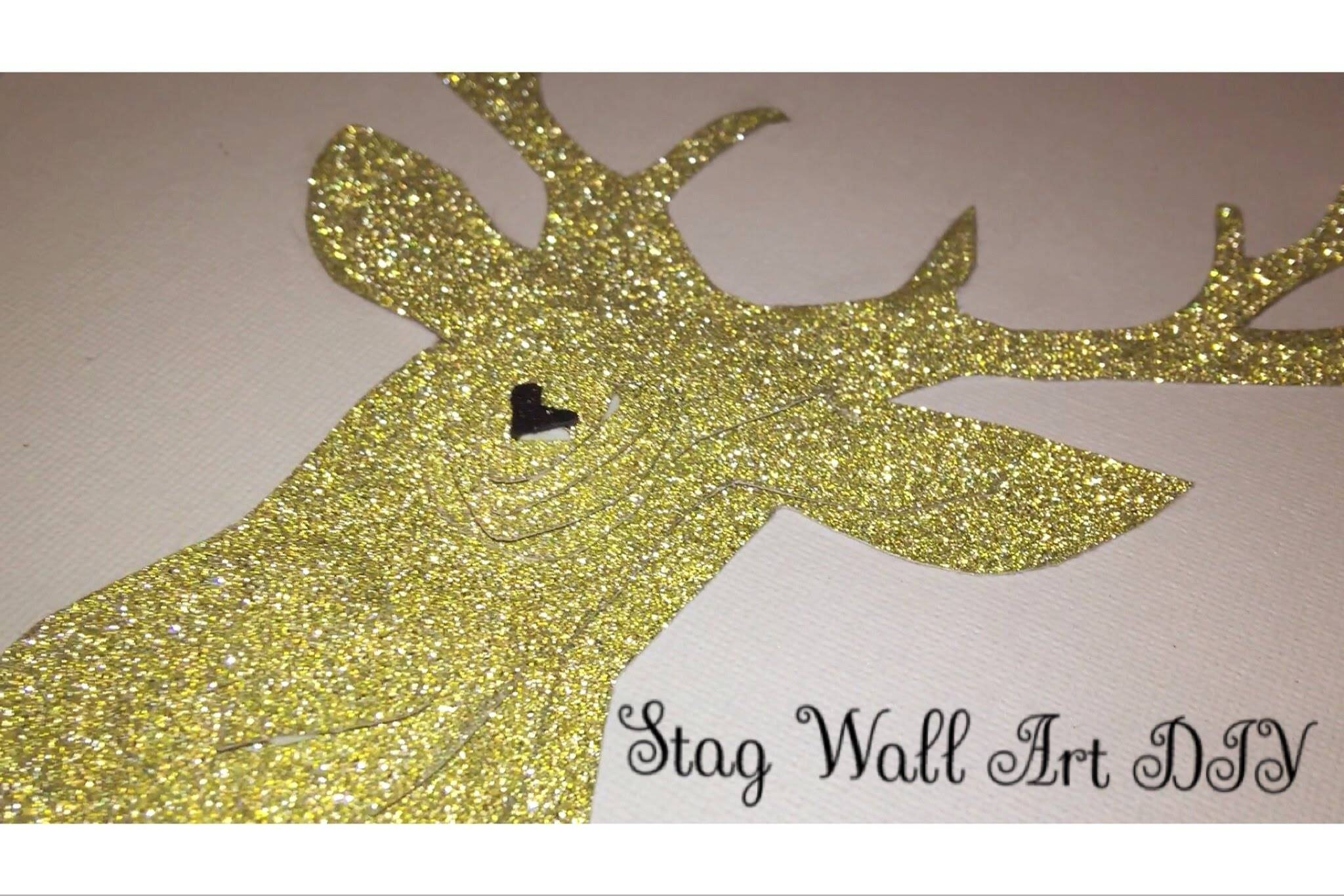 Diy 3D Stag Wall Art Tutorial | Easy Home Decor Diy – Youtube Throughout Most Up To Date Diy 3D Wall Art Decor (View 15 of 20)