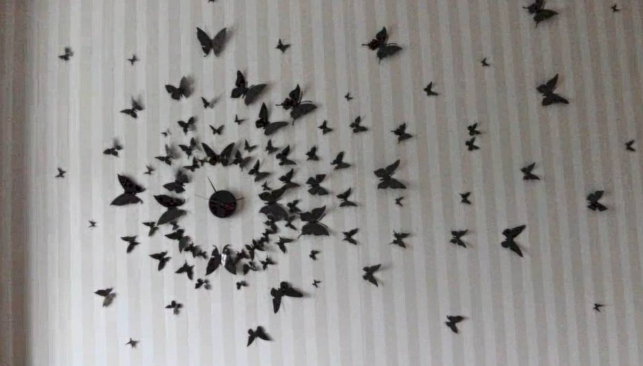 Diy 3D Wall Art Butterflies | Wallartideas With Regard To Most Current Diy 3D Wall Art Butterflies (View 12 of 20)