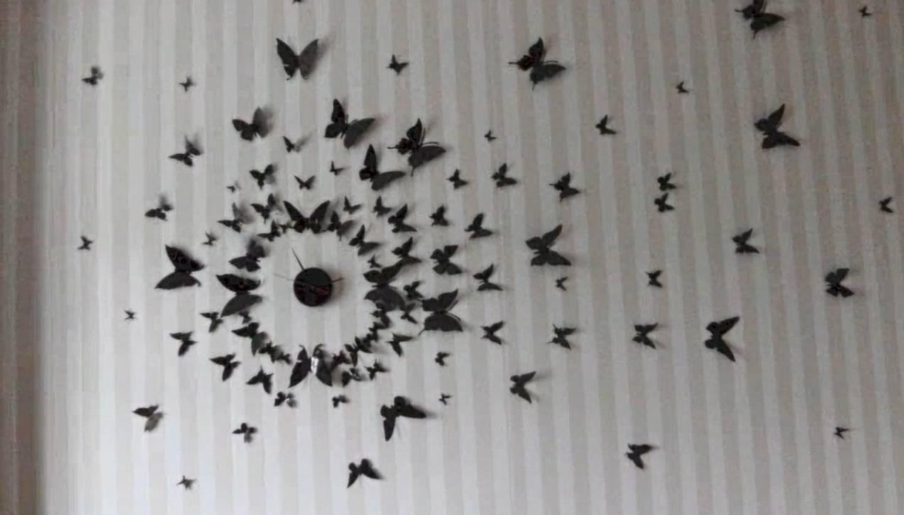 Diy 3D Wall Art Butterflies | Wallartideas With Regard To Most Current Diy 3D Wall Art Butterflies (View 11 of 20)
