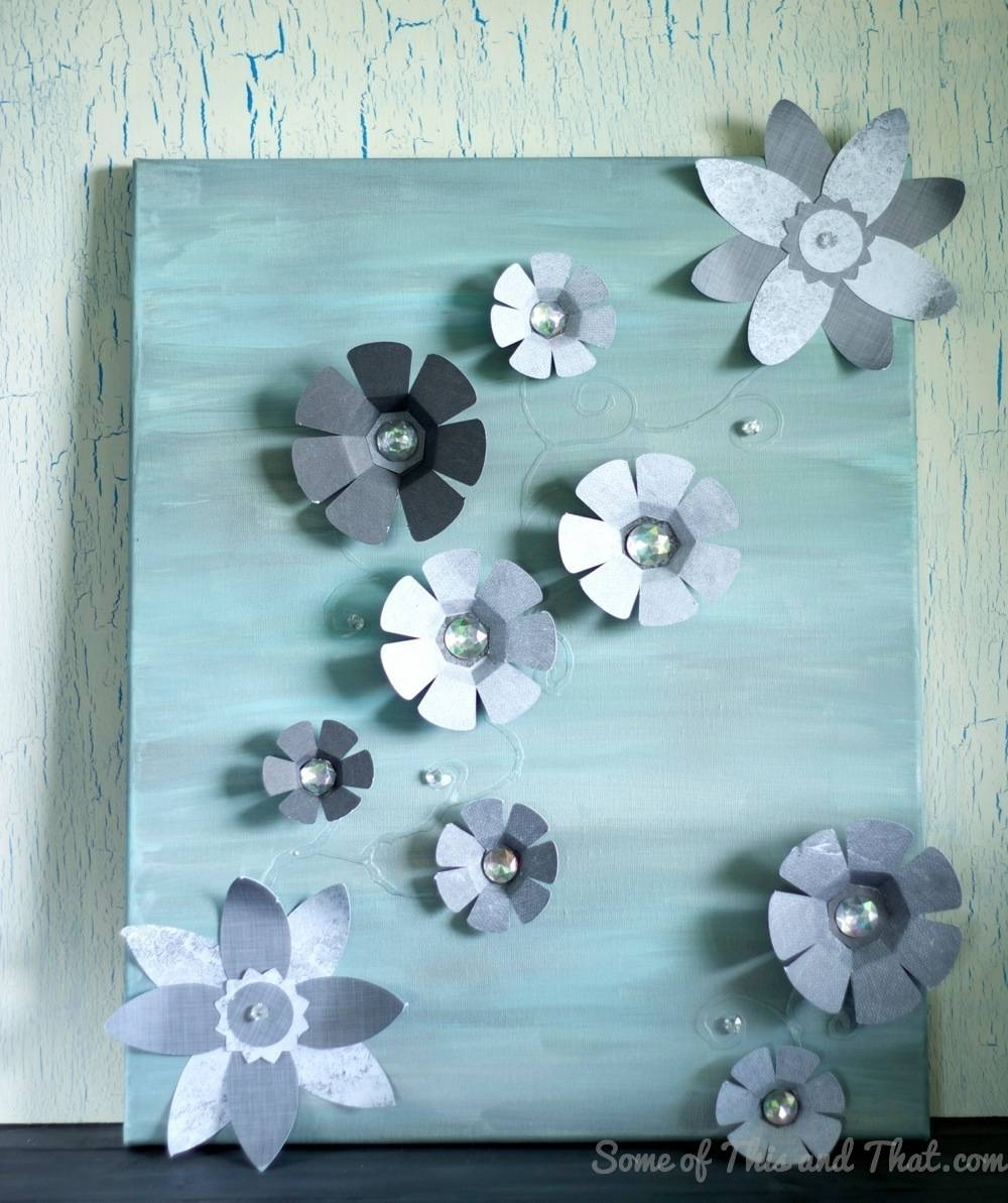 Diy 3D Wall Art – Some Of This And That With Regard To Newest Diy 3D Paper Wall Art (View 14 of 20)