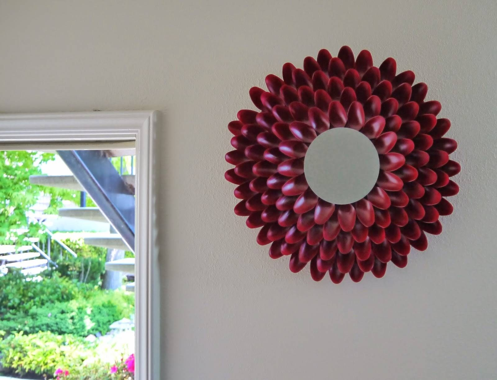 Diy Addiction: Mirror Wall Art – Chrysanthemum Flower Inside Most Current Diy Mirror Wall Art (View 6 of 20)