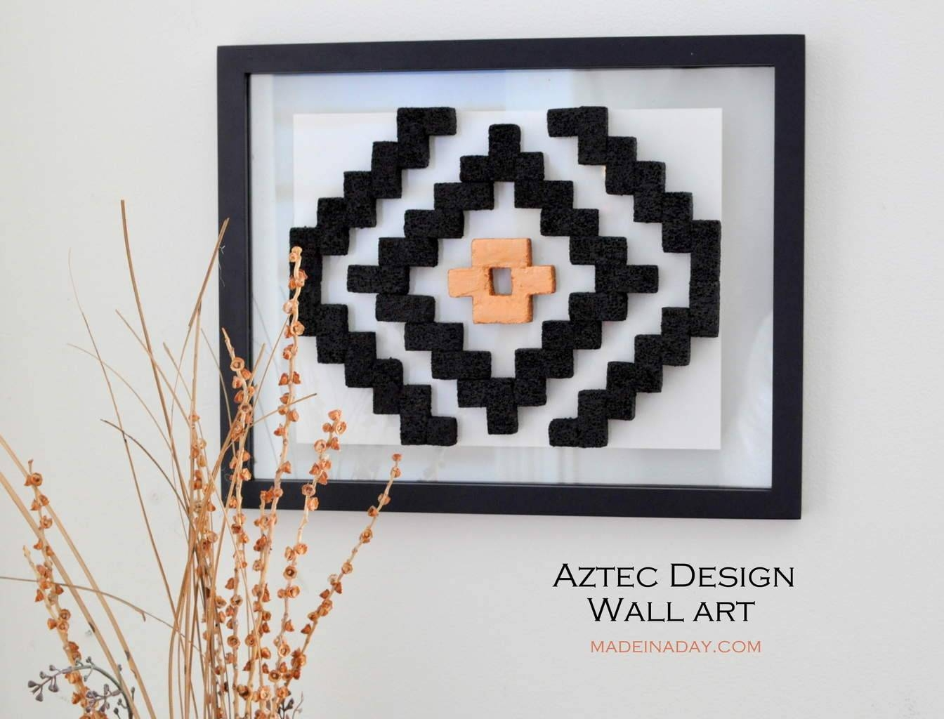 Diy Aztec Pattern Wall Art | Made In A Day For Recent Pattern Wall Art (View 8 of 20)