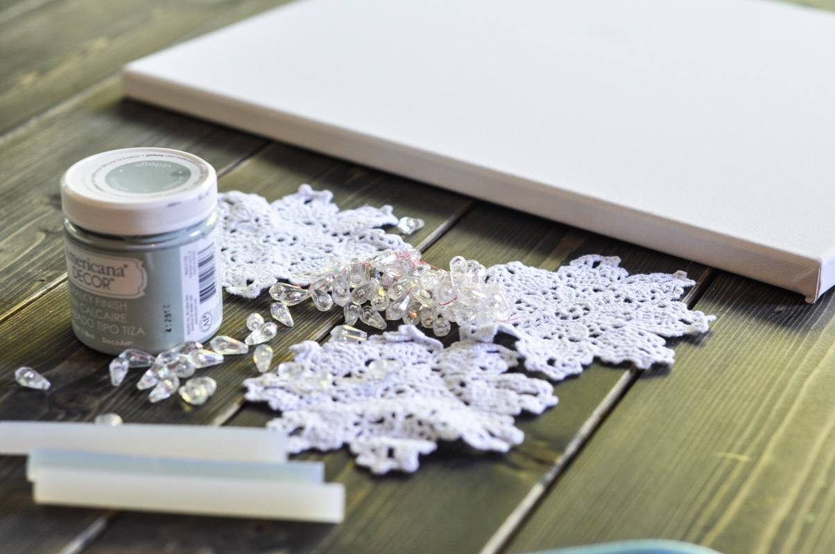 Diy Canvas Wall Art: Shabby Chic Flowers – Crafts Unleashed Pertaining To Current Shabby Chic Canvas Wall Art (View 12 of 25)