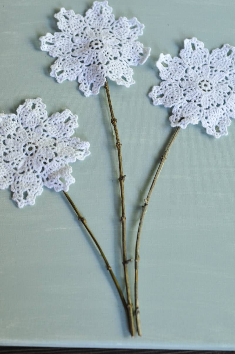 Diy Canvas Wall Art: Shabby Chic Flowers – Crafts Unleashed Regarding Current Shabby Chic Canvas Wall Art (View 20 of 25)