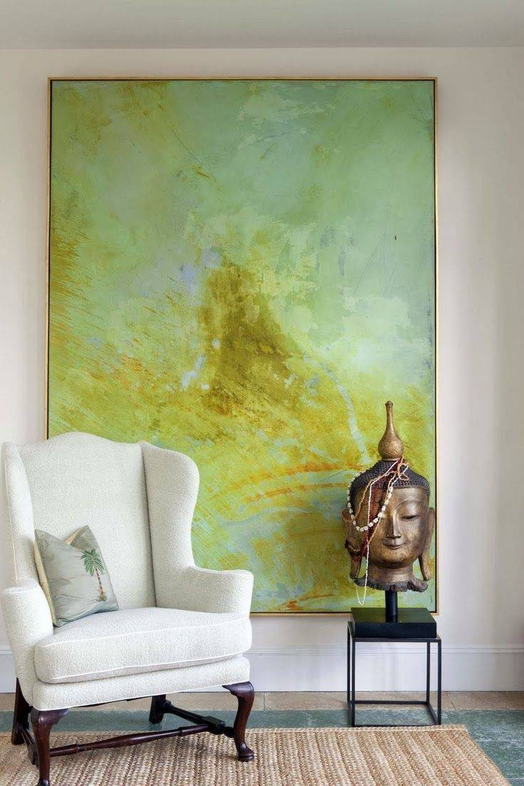 Diy Designer Inspired Art And Frame | Inspiring Art, Virginia And Pertaining To Most Popular Large Green Wall Art (View 4 of 20)