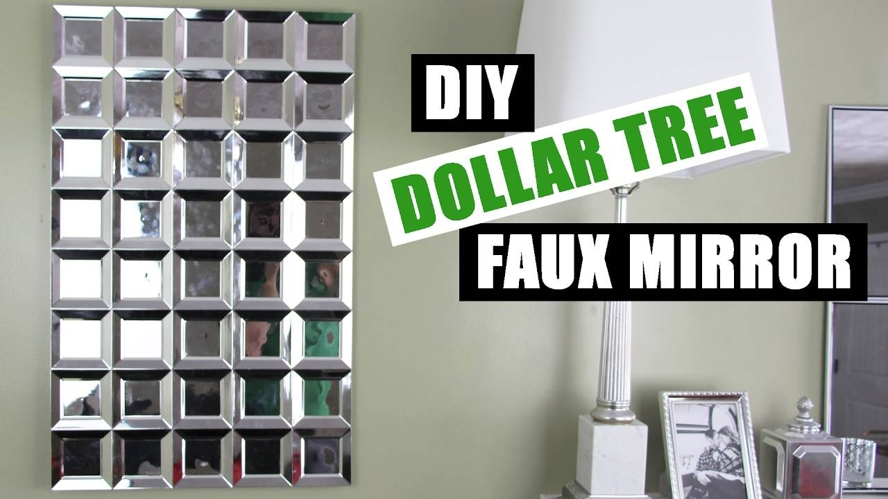 Diy Dollar Tree Glam Faux Mirror Wall Art | Easy Z Gallerie Within Most Current Diy Mirror Wall Art (View 1 of 20)
