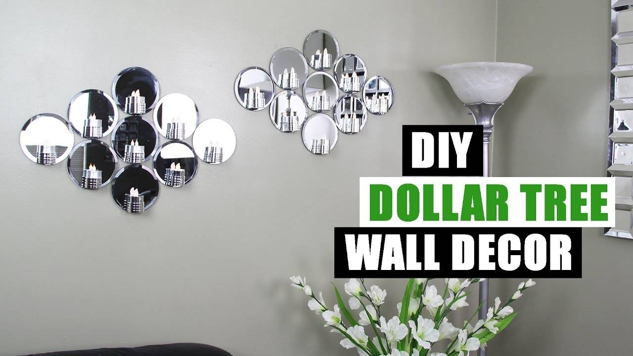 Diy Dollar Tree Mirror Wall Decor Dollar Store Diy Glam Mirror With Regard To Best And Newest Diy Mirror Wall Art (View 9 of 20)