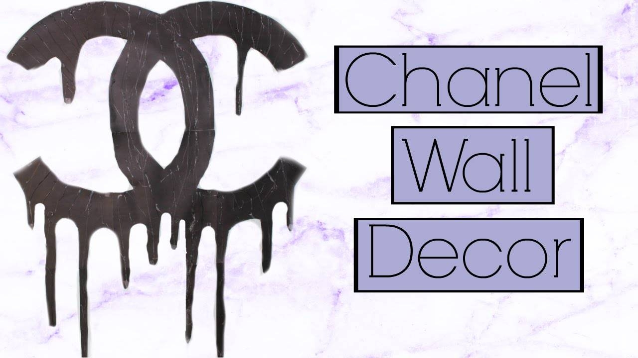 Diy | Easy Dripping Chanel Logo | Tumblr Inspired Wall Decor – Youtube Inside Newest Chanel Wall Decor (View 13 of 25)