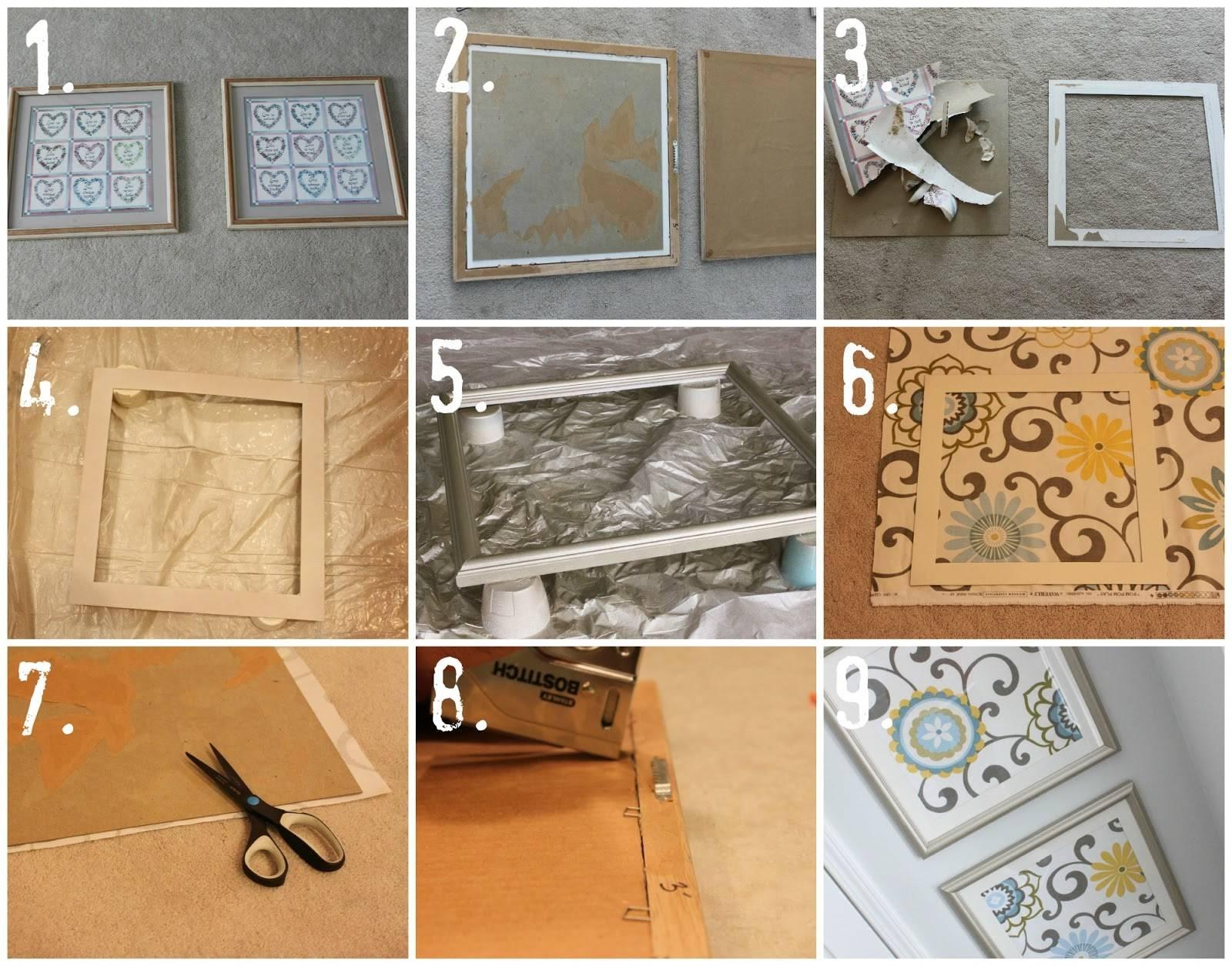 Diy Fabric Art – Househoff Regarding Recent Framed Fabric Wall Art (View 4 of 20)
