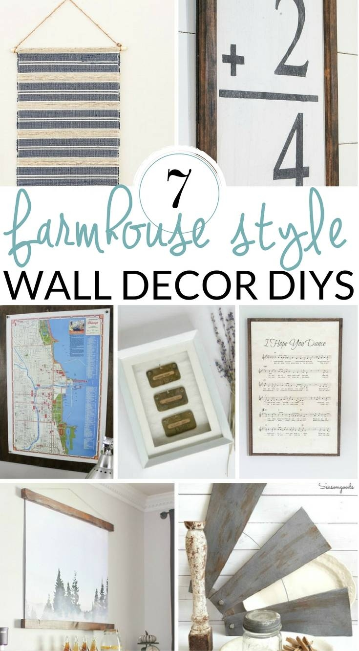 Diy Farmhouse Wall Decor Inspiration – The Crazy Craft Lady For Most Up To Date Farmhouse Wall Art (View 6 of 25)