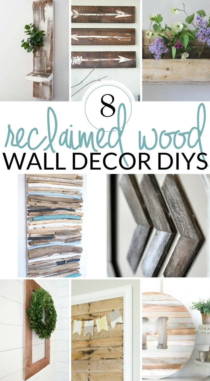 Diy Farmhouse Wall Decor Inspiration – The Crazy Craft Lady Intended For Recent Farmhouse Wall Art (View 12 of 25)