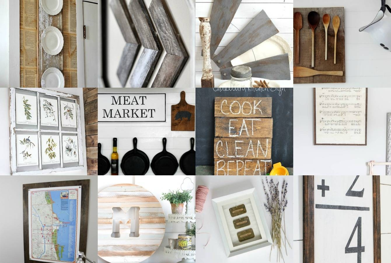 Diy Farmhouse Wall Decor Inspiration – The Crazy Craft Lady With Regard To Most Popular Farmhouse Wall Art (View 11 of 25)