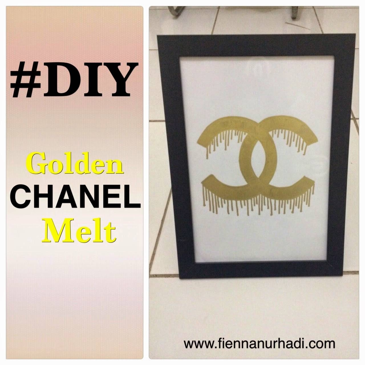 Diy Gold Chanel Melting Wall Decor | Fienna Nurhadi's Blog Throughout 2017 Chanel Wall Decor (View 11 of 25)