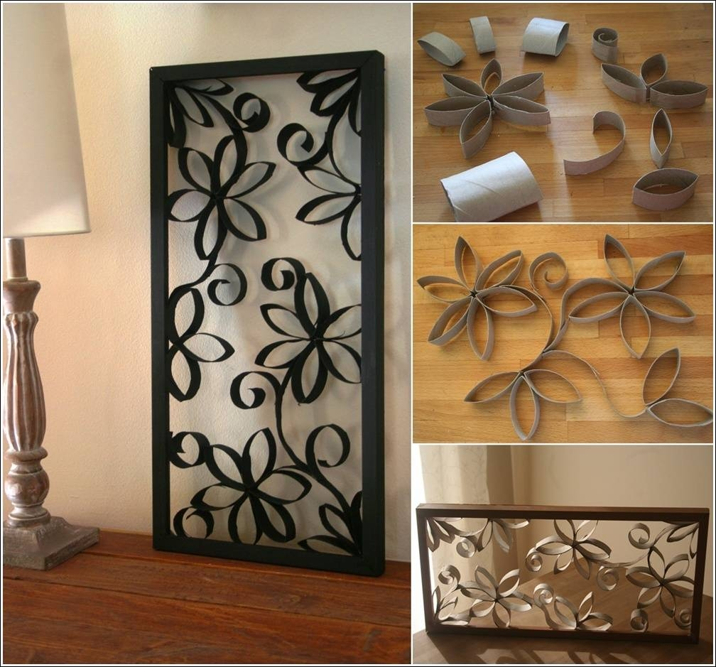 Diy Metal Looking Flower Wall Art From Paper Roll Pertaining To Most Recently Released Metal Framed Wall Art (View 6 of 20)