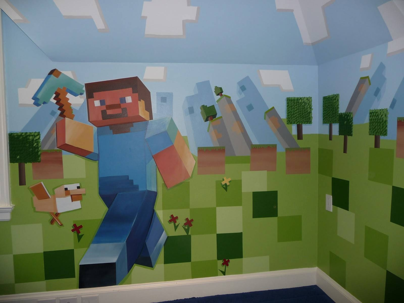 Diy Minecraft Wall Decorations : Design Minecraft Wall Decorations Regarding Best And Newest Minecraft 3d Wall Art (View 11 of 20)