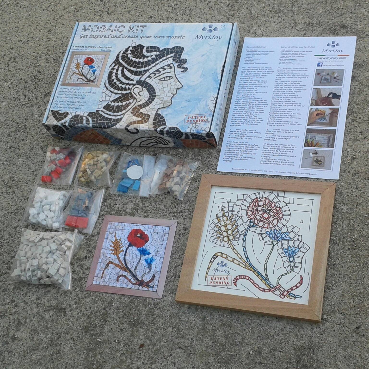 Diy Mosaic Craft Kit For Adults: Four Seasons Summer – Mosaic Tile Throughout Recent Mosaic Art Kits For Adults (View 17 of 20)