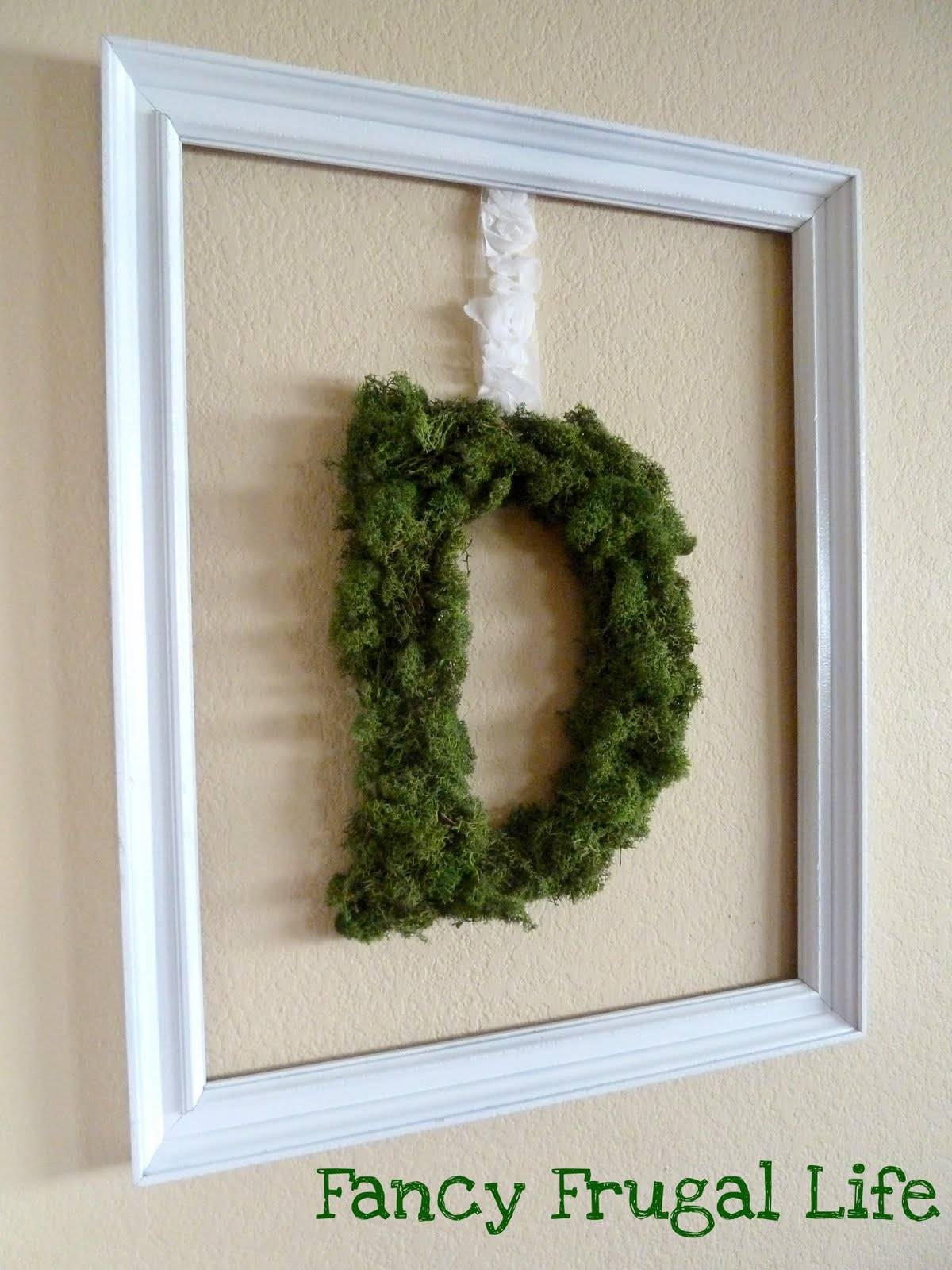 Diy Moss Monogram Wall Art | For Newest Framed Monogram Wall Art (View 11 of 20)