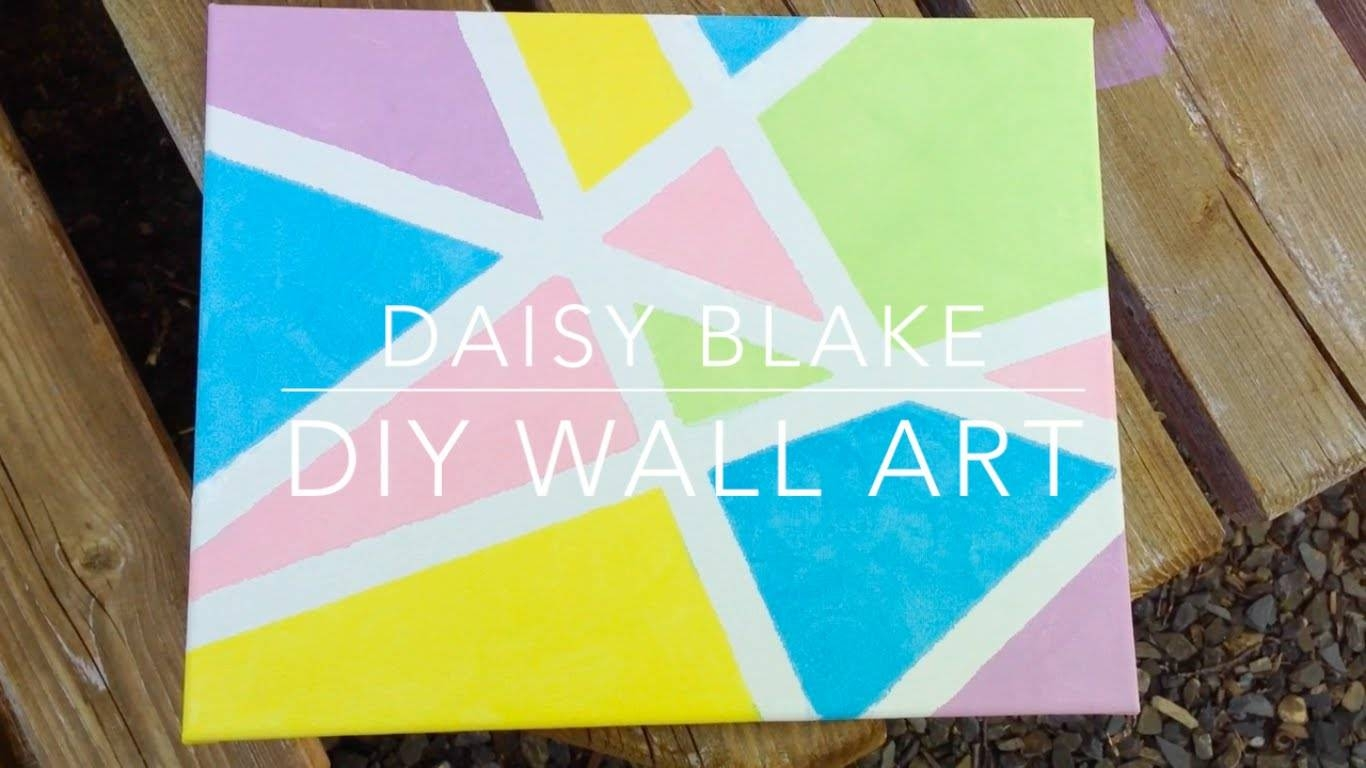 Diy Pinterest/tumblr Inspired Canvas Wall Art || Daisy Blake – Youtube For Current Diy Pinterest Canvas Art (View 24 of 25)