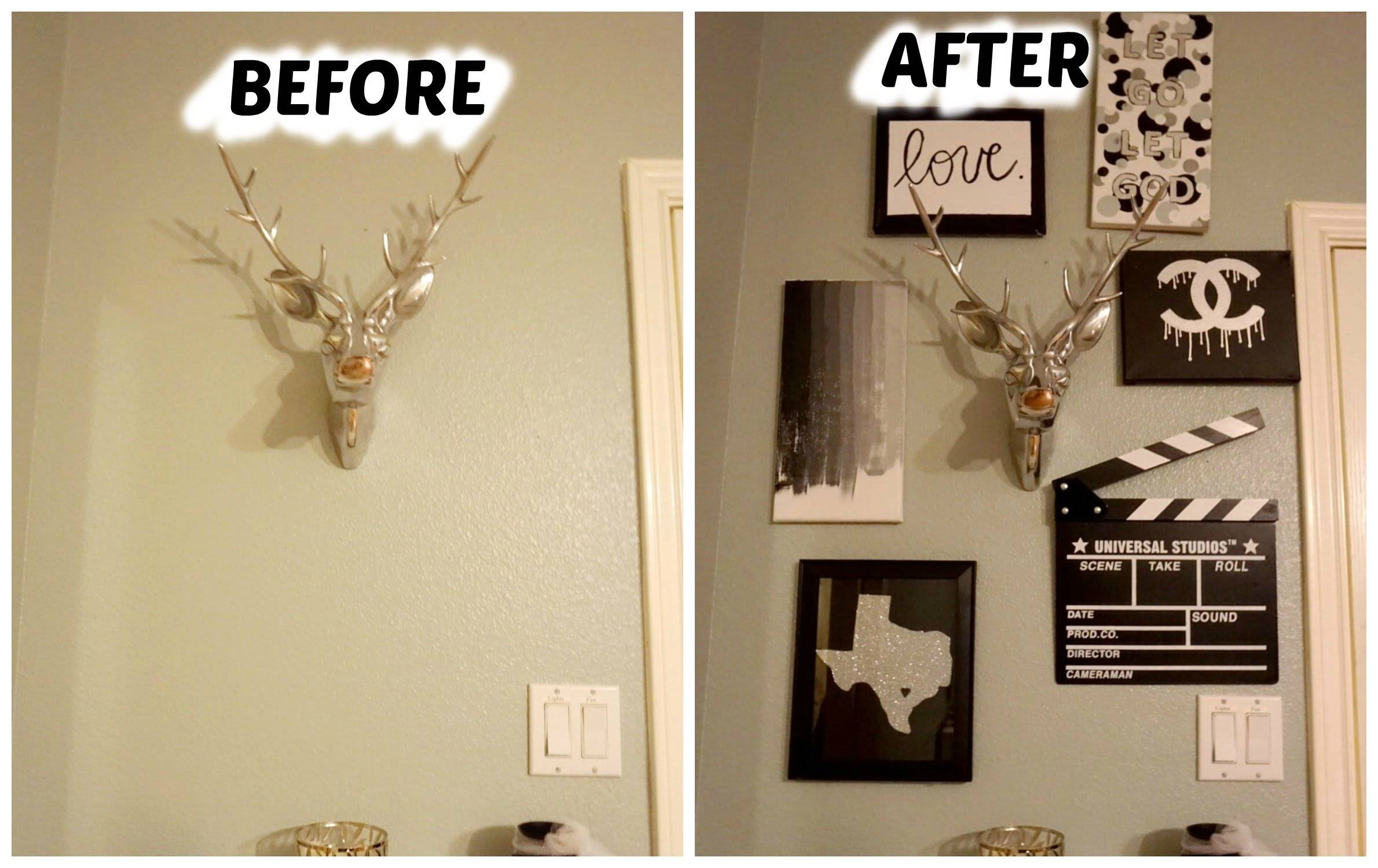 Diy Pinterest Wall Decor – Youtube Pertaining To Most Current Pinterest Diy Wall Art (View 19 of 25)