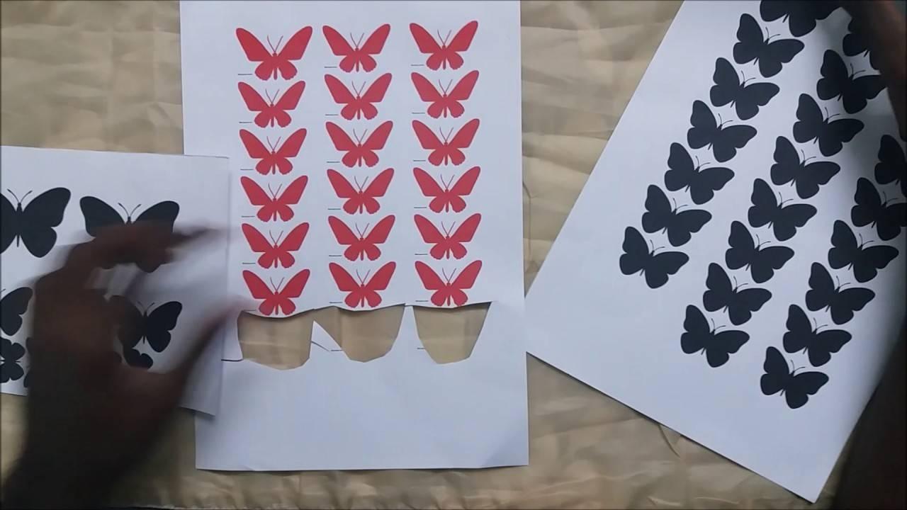 Diy Project2 3D Butterfly Wall Art – Youtube Pertaining To 2018 Diy 3D Wall Art Butterflies (View 15 of 20)