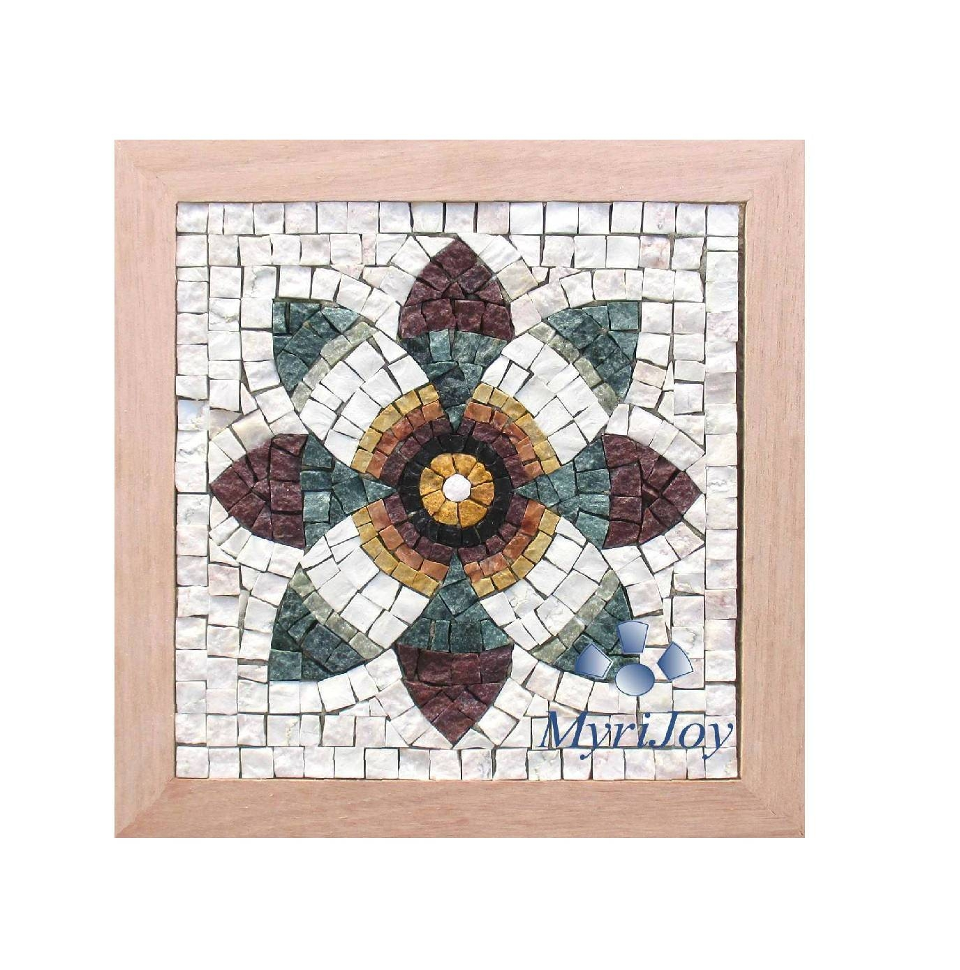 Diy Roman Mosaics Kit For Adults Pomegranate Flower Marble Mosaic Intended For Most Recent Mosaic Art Kits For Adults (View 12 of 20)