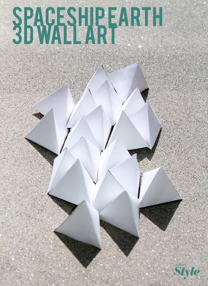 Diy: Spaceship Earth 3D Wall Art | Living Intended For Recent 3D Triangle Wall Art (View 14 of 20)