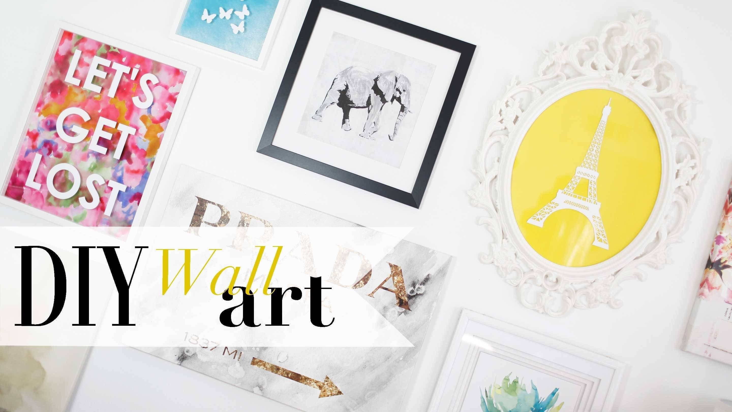 Diy Tumblr Gallery Wall Art Pinterest Inspired | Ann Le – Youtube In Most Popular Prada Wall Art (View 10 of 25)