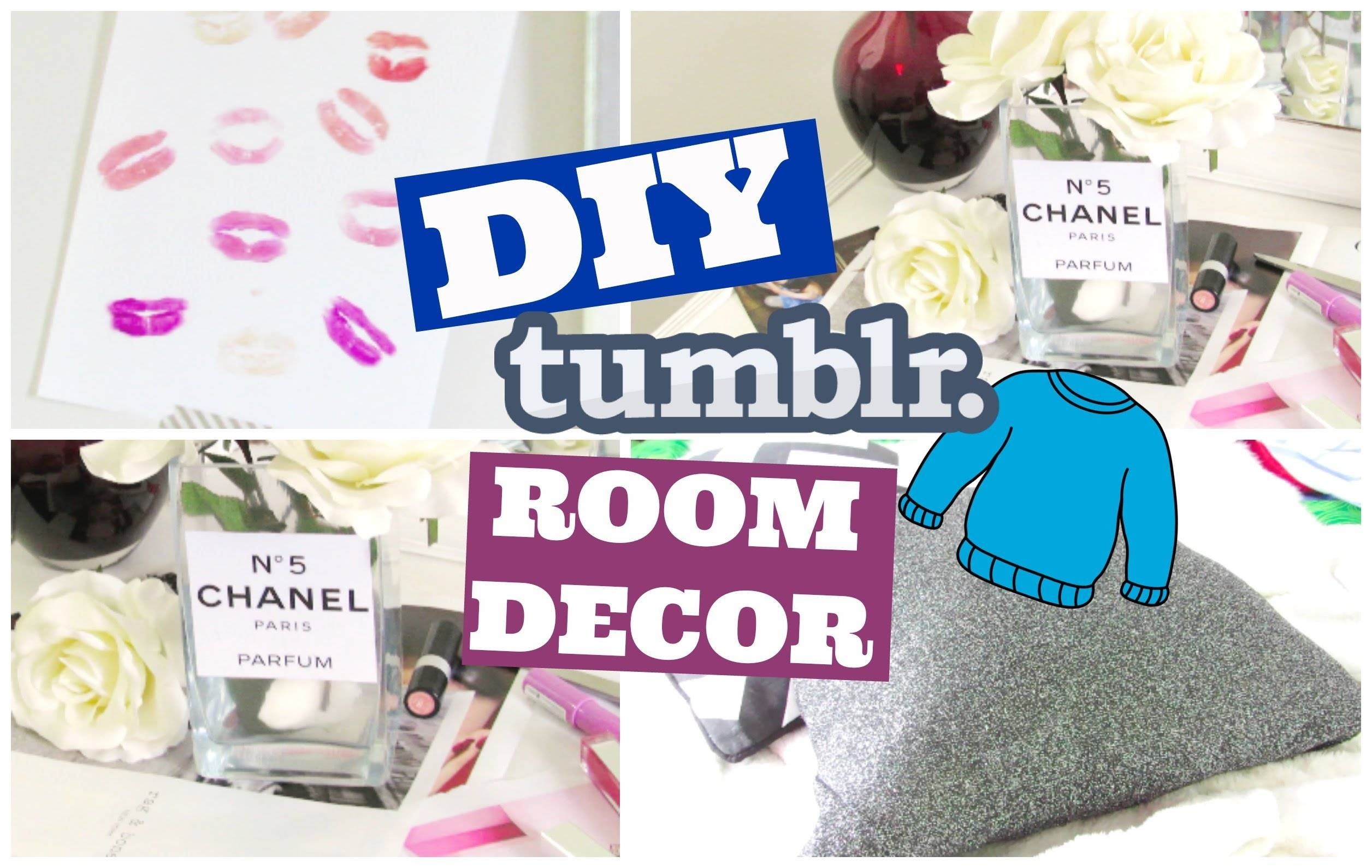 Diy Tumblr Room Decor For Teens – Chanel Vase, Accent Pillows And Throughout Recent Wall Art For Teens (View 13 of 20)