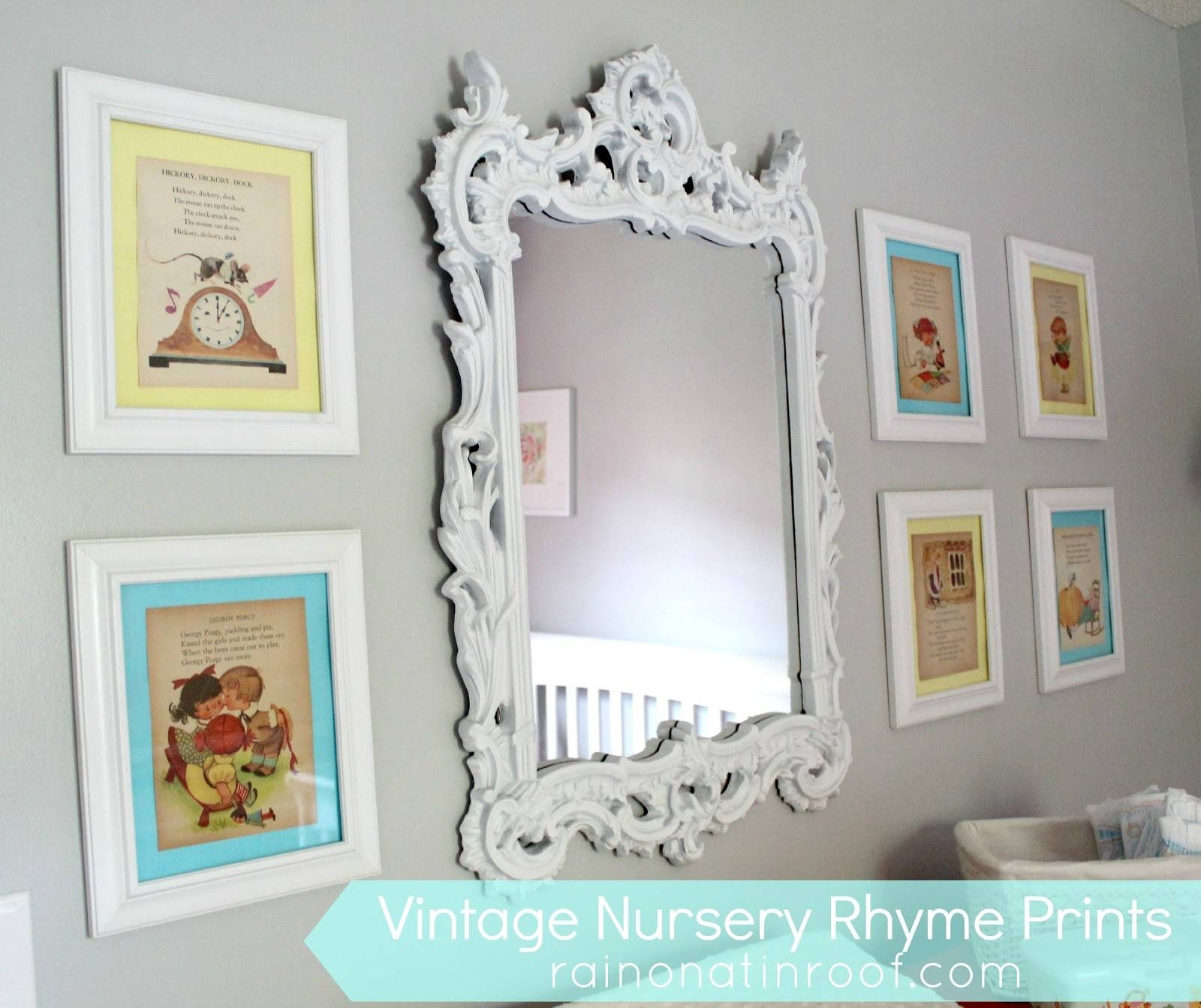 Diy Vintage Nursery Rhyme Prints: Simple & Cheap Throughout 2017 Nursery Framed Wall Art (View 11 of 20)