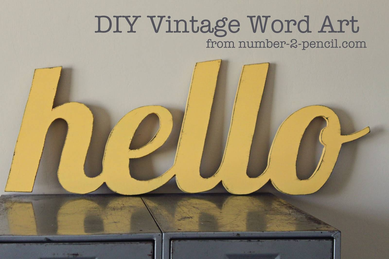 Diy Vintage Word Art – No (View 9 of 30)