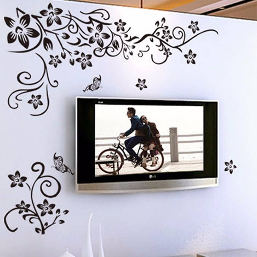 Diy Wall Art Decal Decoration Fashion Romantic Flower Wall Sticker Inside Current Decorative 3d Wall Art Stickers (View 9 of 20)