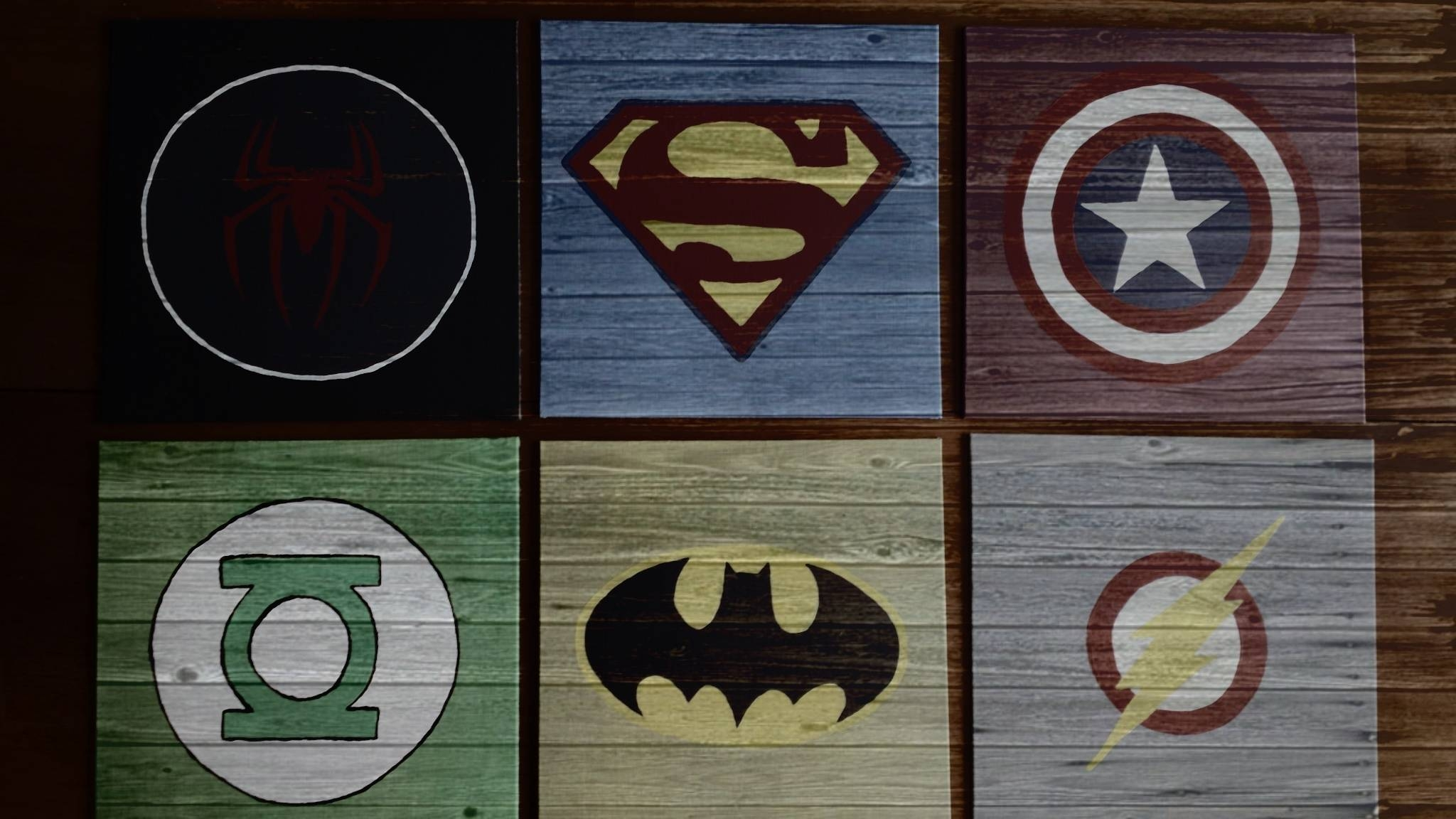 Diy Wall Art For Boys  Superhero Logos | Pinterest Inspiration With Most Up To Date Superhero Wall Art For Kids (View 5 of 25)