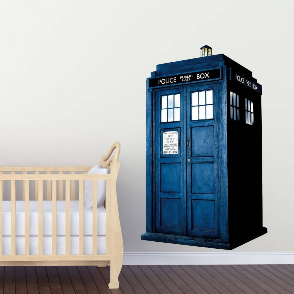 Doctor Who Tardis Kids Boy Girls Bedroom Wall Decal Art Sticker With Regard To 2017 Doctor Who Wall Art (View 17 of 33)