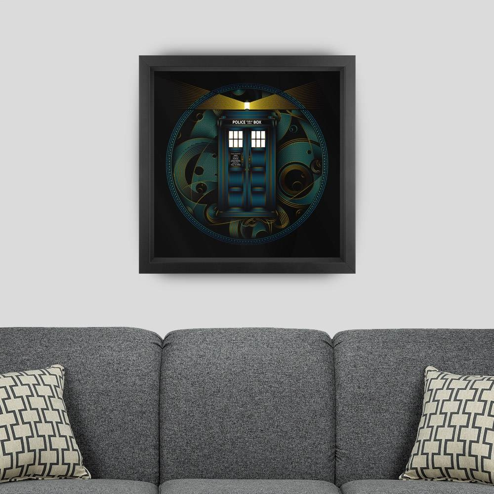 Doctor Who Tardis Tribute Framed Art Print – Nathan Owens Design Regarding Most Recent Doctor Who Wall Art (View 18 of 33)