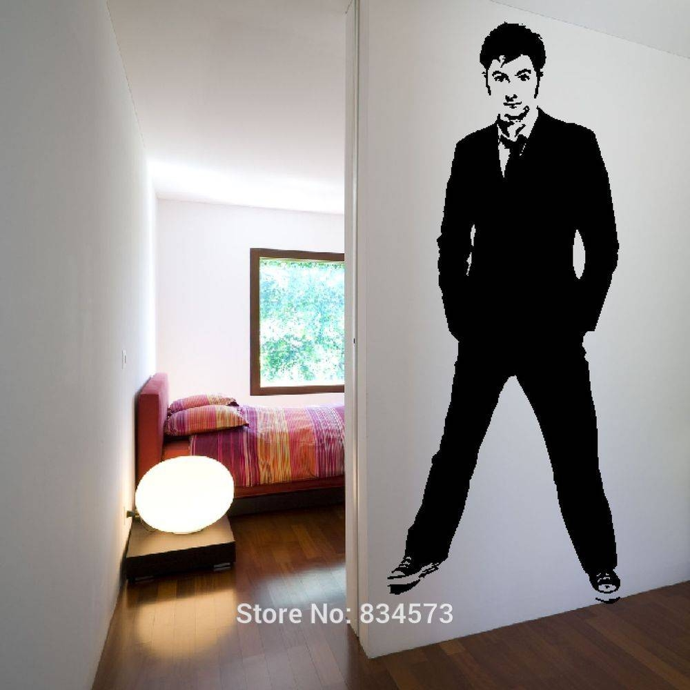 Doctor Who Timelord David Tennant Dw Wall Art Sticker Decal Home Throughout Recent Doctor Who Wall Art (View 20 of 33)