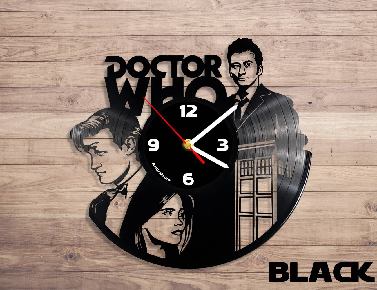 Doctor Who Vinyl Record Wall Clock – Artgrain Pertaining To 2017 Doctor Who Wall Art (View 21 of 33)
