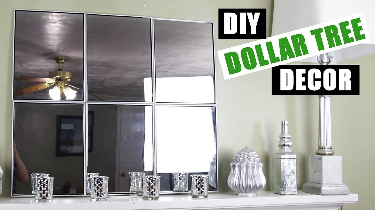 Dollar Tree Diy Mirror Wall Art | Dollar Store Diy Mirror Room Pertaining To Best And Newest Diy Mirror Wall Art (View 13 of 20)