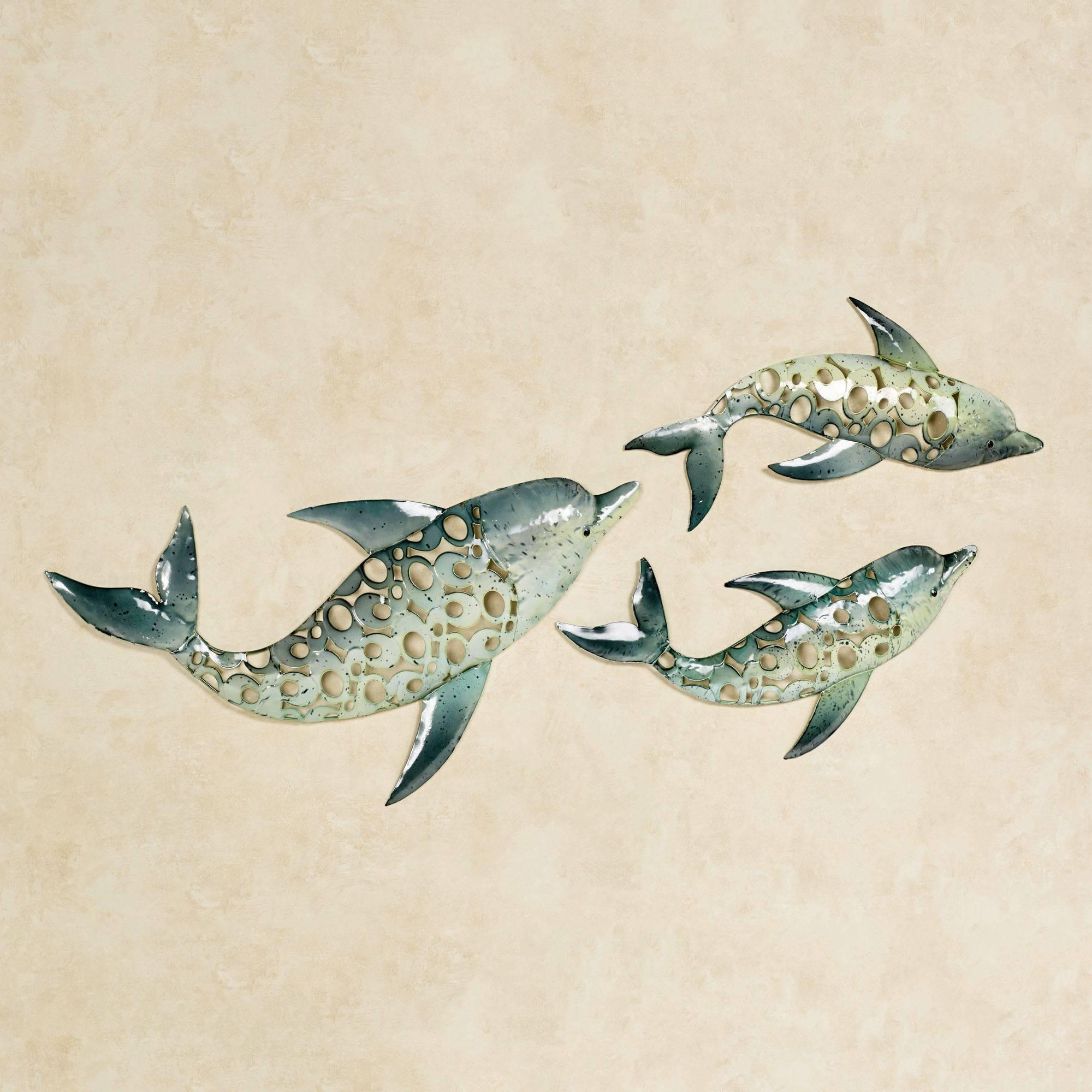Dolphin Trio Indoor Outdoor Metal Wall Art Set Throughout Latest Dolphin Metal Wall Art (View 5 of 25)