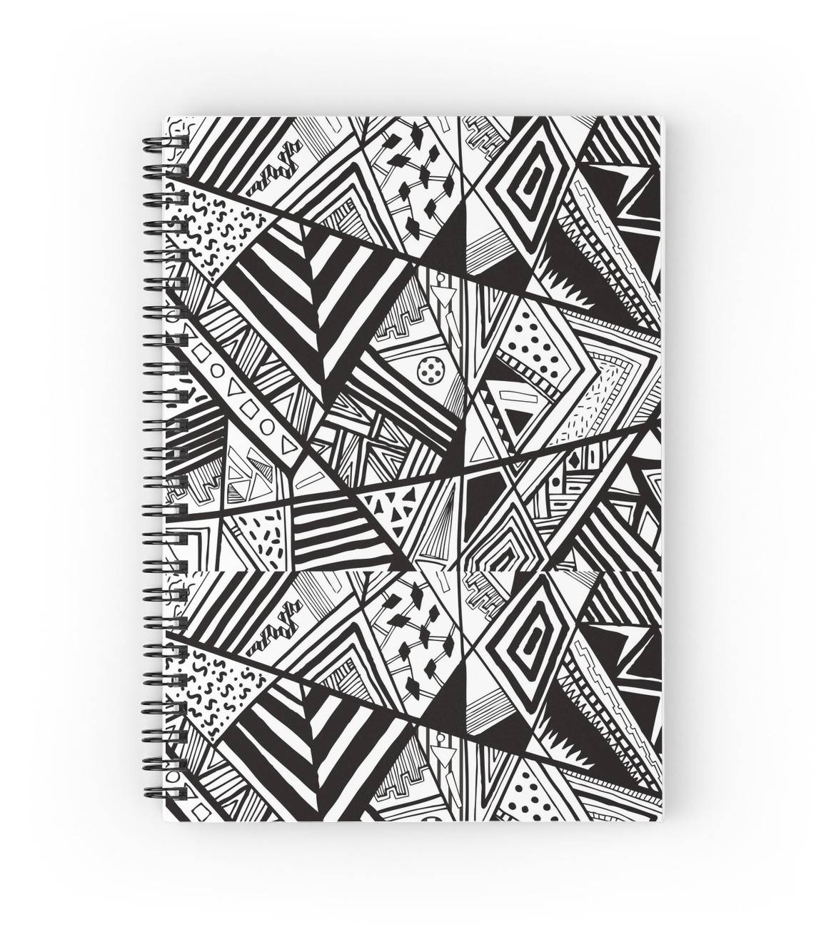 """Doodle Polynesian 1"""" Spiral Notebooksminestea 