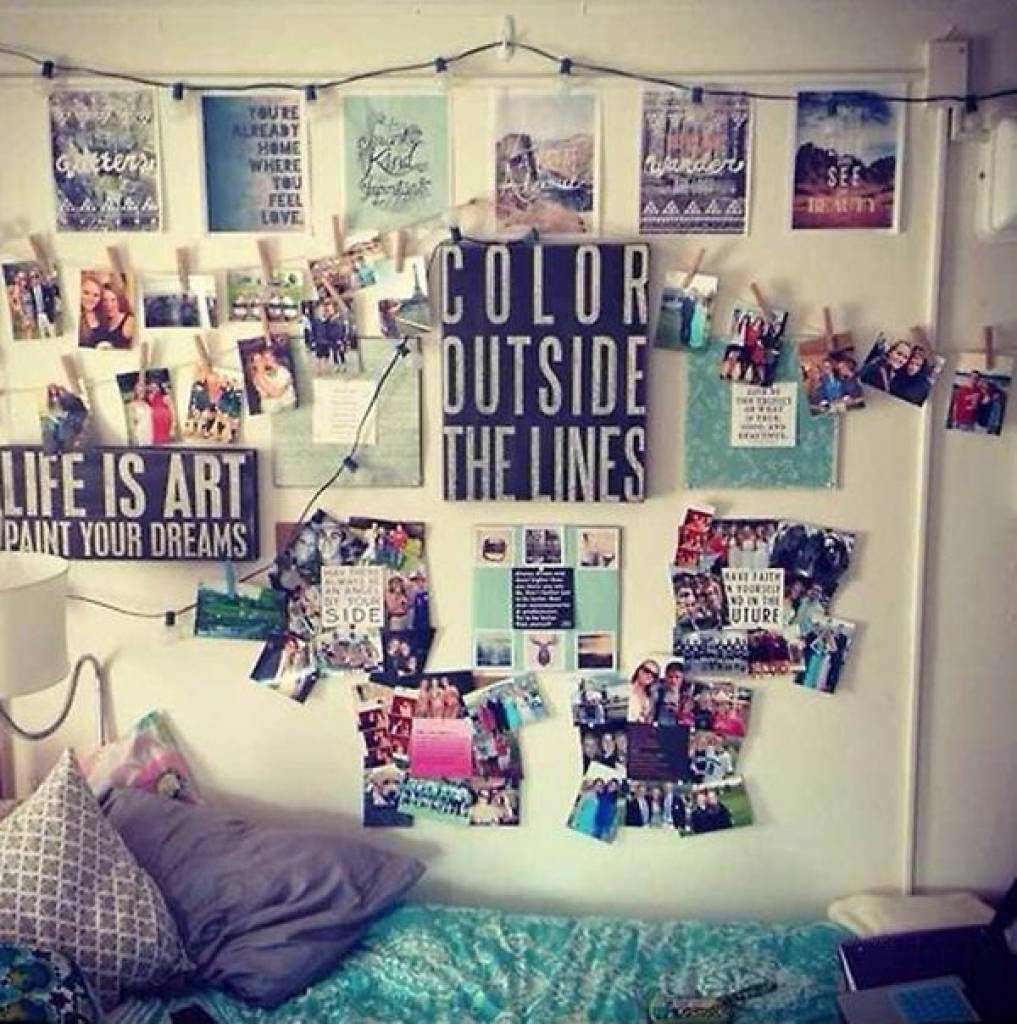Dorm Room Wall Decorating Ideas 1000 Images About Dorm Decor On Intended For Newest College Dorm Wall Art (View 13 of 20)