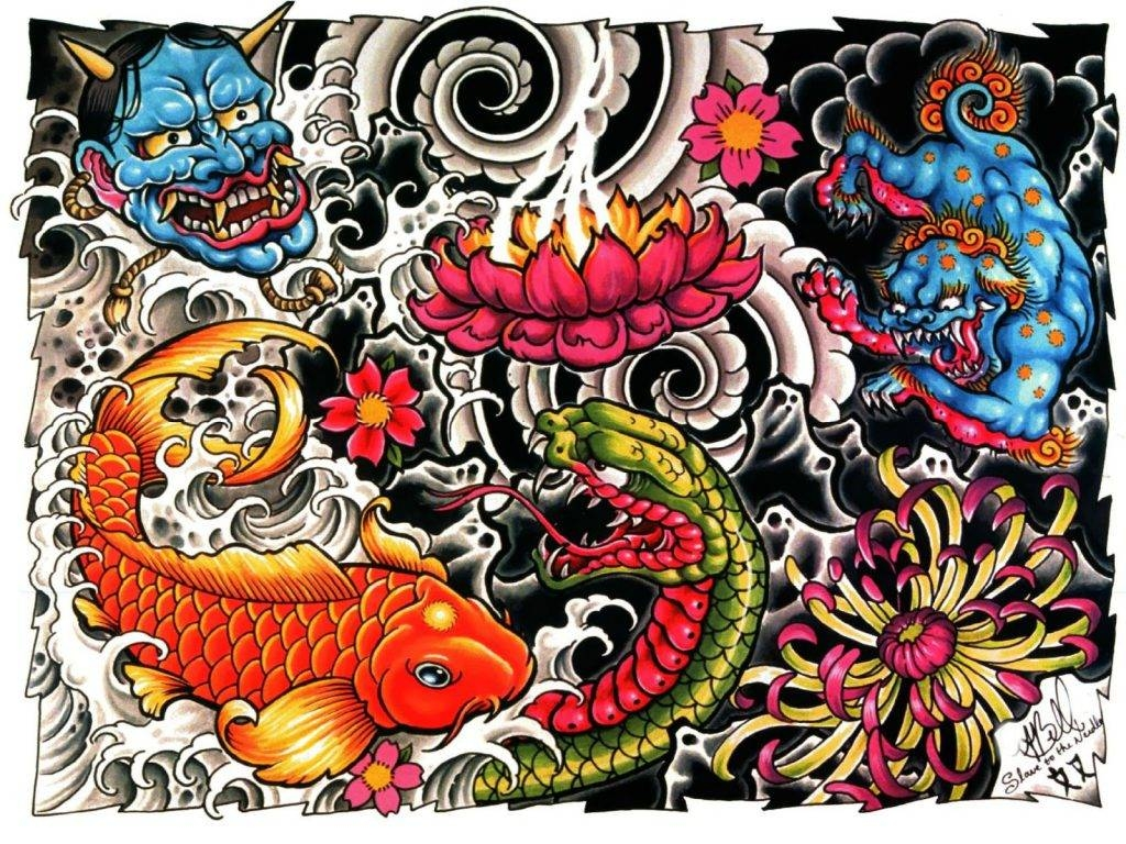 Download Hd Tattoo Wallpaper 14Wallart | Wall Art Picture With Regard To Most Popular Tattoos Wall Art (View 5 of 20)