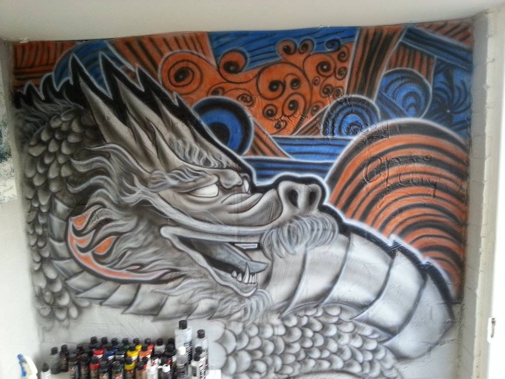 Dragon Airbrush Wall Artox4Dboy87 On Deviantart Throughout Most Recently Released Airbrush Wall Art (View 7 of 20)
