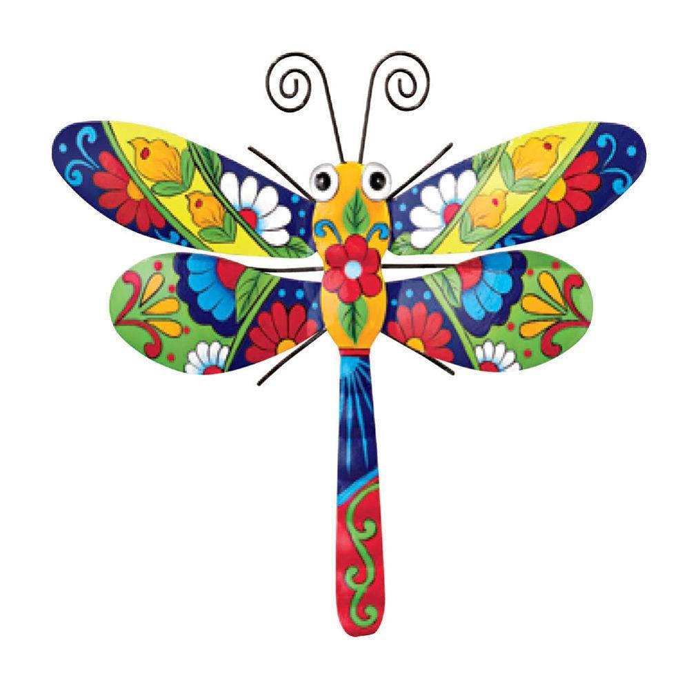 Dragonfly Metal Garden Wall Art Decor Hand Paint Colorful Mexican Throughout Most Recently Released Mexican Metal Yard Wall Art (View 8 of 30)