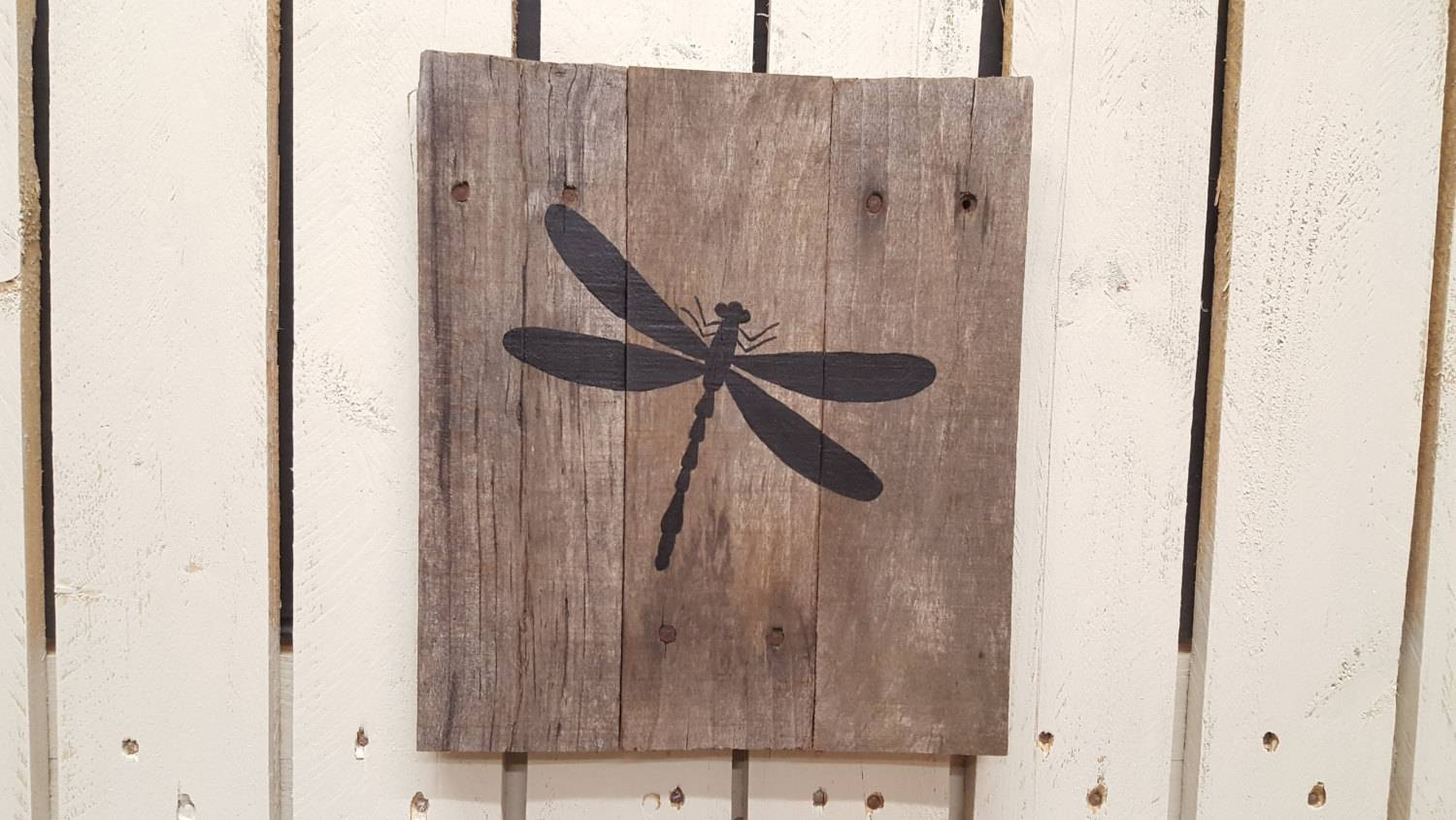 Dragonfly Wall Decor Rustic Art Nature Decor Dragonfly Regarding 2018 Insect Wall Art (Gallery 26 of 30)