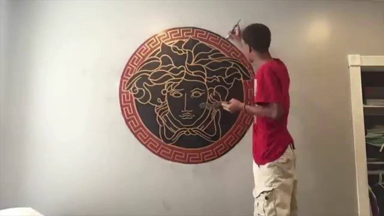 Drawing Of Versace Logo (Time Lapse) – Youtube With Newest Versace Wall Art (View 2 of 20)