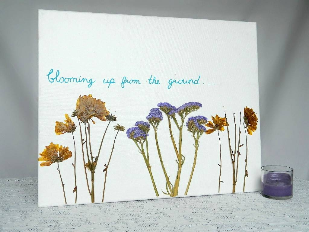 Dried Flower Canvas Wall Art Throughout Most Current Flower Wall Art Canvas (View 8 of 20)
