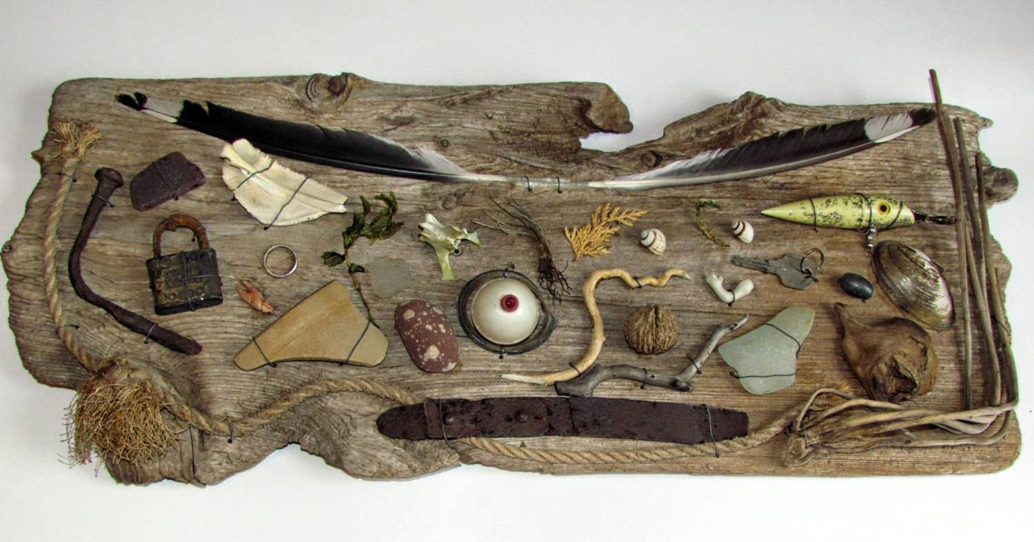 Driftwood Beachcombing Finds Driftwood Wall Art Nautical Inside Intended For Most Current Driftwood Wall Art (View 11 of 30)